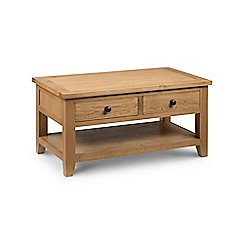 Debenhams - Oak 'Arlington' coffee table with 2 drawers