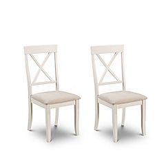 Debenhams - Pair of oak and white 'Devon' chairs