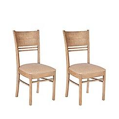 Debenhams - Pair of reclaimed wood 'Toscana' chairs