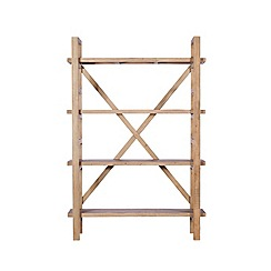 Debenhams - Reclaimed wood 'Toscana' shelving unit