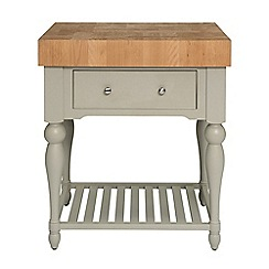 Willis & Gambier - Oak and painted 'Worcester' butcher's block unit