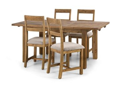 Debenhams   Pine U0027Whistleru0027 Extending Dining Table And 4 Chairs