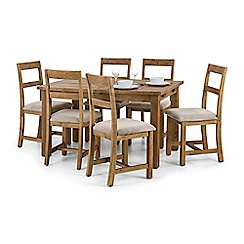 Debenhams - Pine 'Whistler' extending dining table and 6 chairs