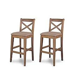 Willis & Gambier - Pair of oak 'Worcester' bar stools