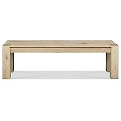 Debenhams - Large oak 'Turin' bench
