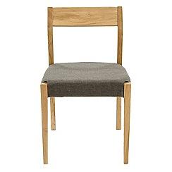 RJR.John Rocha - Pair of oak 'Efni' chairs with dark grey seat pads