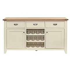 Willis & Gambier - Oak top 'Newquay' large sideboard with wine rack