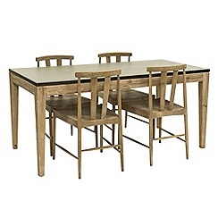 Willis & Gambier - Faro' small concrete effect dining table with 4 dining chairs