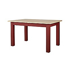 Corndell - Dark red 'Marlow' extending dining table