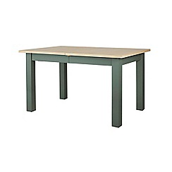 Corndell - Dark green 'Marlow' extending dining table