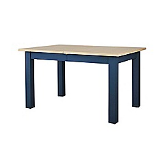 Corndell - Dark blue 'Marlow' extending dining table
