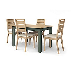 Corndell - Dark green 'Marlow' dining table and 4 chairs set
