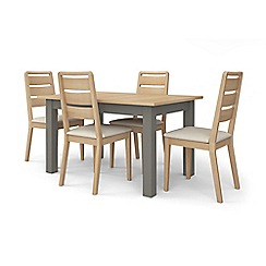 Corndell - Light grey 'Marlow' dining table and 4 chairs set