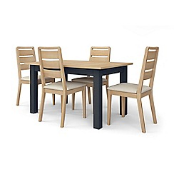 Corndell - Dark grey 'Marlow' dining table and 4 chairs set