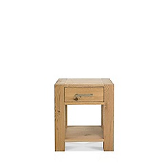 Debenhams - Oak 'Turin' side table with drawers