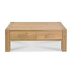 Debenhams - Oak 'Turin' coffee table with drawers
