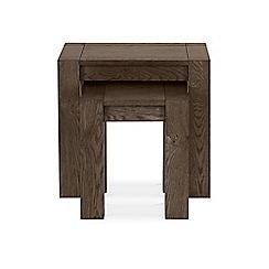 Debenhams - Dark oak 'Turin' nest of tables