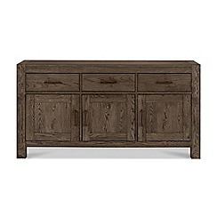 Debenhams - Dark oak 'Turin' wide sideboard