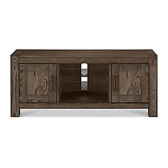 Debenhams - Dark oak 'Turin' TV unit