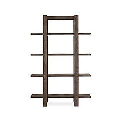 Debenhams - Dark oak 'Turin' open shelving unit