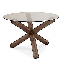 Debenhams - Dark oak and glass 'Turin' round table