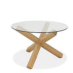Debenhams - Oak and glass 'Turin' round table