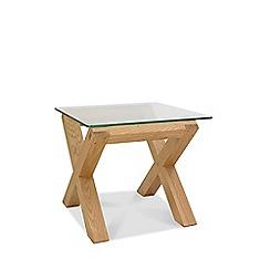 Debenhams - Oak and glass 'Turin' side table