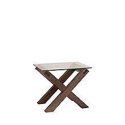 Debenhams - Dark oak and glass 'Turin' side table