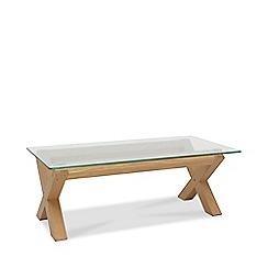 Debenhams - Oak and glass 'Turin' coffee table