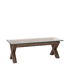 Debenhams - Dark oak and glass 'Turin' coffee table