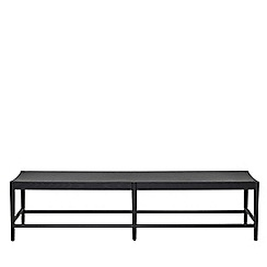 Willis & Gambier - Large charcoal 'Boston' bench