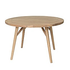 Willis & Gambier - Oak effect 'Boston' round dining table