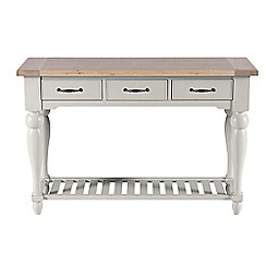 Willis & Gambier - White-washed oak and painted 'Worcester' console table
