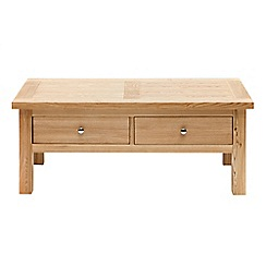 Willis & Gambier - Ash 'Denver' coffee table with 2 drawers