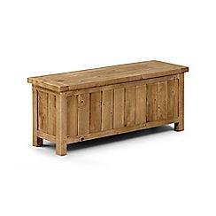 Debenhams - Pine 'Whistler' storage bench