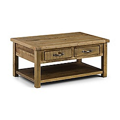 Debenhams - Pine 'Whistler' coffee table with 2 drawers