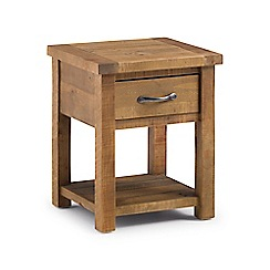 Debenhams - Pine 'Whistler' lamp table with drawer