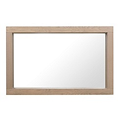 Debenhams - Oak 'Turin' wall mirror
