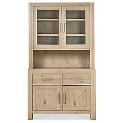 Debenhams - Oak 'Turin' glazed display cabinet