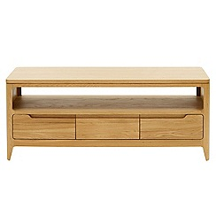 RJR.John Rocha - Oak 'Efni' light brown TV unit