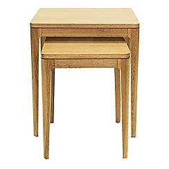 RJR.John Rocha - Oak 'Efni' light brown nest of 2 tables