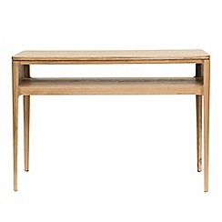 RJR.John Rocha - Oak 'Efni' light brown console table