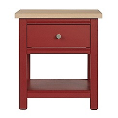 Corndell - Dark red 'Marlow' side table