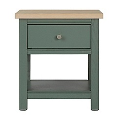 Corndell - Dark green 'Marlow' side table