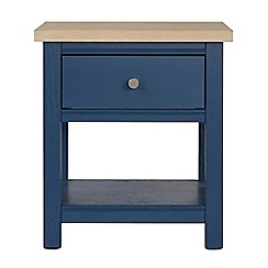 Corndell - Dark blue 'Marlow' side table