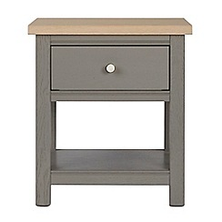 Corndell - Light grey 'Marlow' side table
