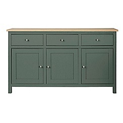 Corndell - Large dark green 'Marlow' sideboard