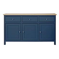 Corndell - Large dark blue 'Marlow' sideboard