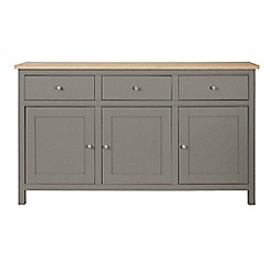 Corndell - Large light grey 'Marlow' sideboard