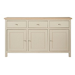 Corndell - Cream painted oak 'Marlow' large sideboard
